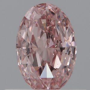 rosa Diamant oval